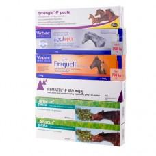 A2 Anti-Wurmpaste Packet Vorteilspaket incl. Bandwurmbefall Ivermectin - Pyrantel - Febendasol - Praziquantal