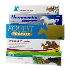 A4 Wurmpaste Packet extra Bandwurmpaket Praziquantal - Moxidentin - Febendazol - Pyrantel - Ivermectin
