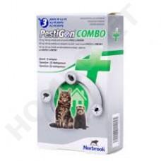 Pestigon Combo Lösung zum Auftropfen für Katzen und Frettchen