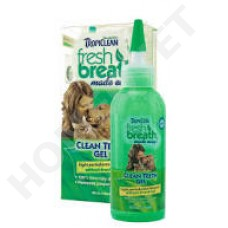 Tropiclean Fresh Breath Clean Teeth Gel für Hunde- Zahnreinigungsgel