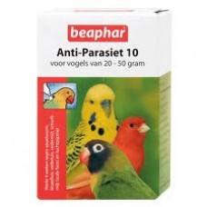 Beaphar Anti - Parasit 10 Vögel bei Würmer, Milben, Luftsackmilben Blutläuse usw.