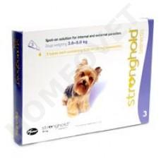 Stronghold Hund 2.6 bis 5 kg  gegen Spul-, Rundwurmer, Milben und Flöhe bei Hunden