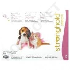 Stronghold Welpen - Jungkatzen bis 2.5 kg gegen Hacken-, Spul-, Rundwurmer, Milben und Flöhe bei Hunden